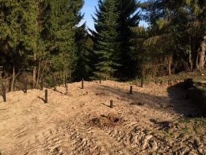 Фундамент на винтовых сваях в деревне Сибирь