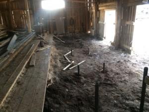 Фундамент на винтовых сваях под пилораму в Оханске