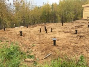 Фундамент на винтовых сваях в деревни Гари